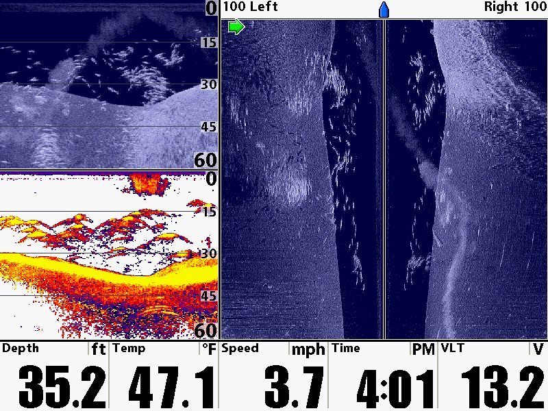 Humminbird side and down imaging